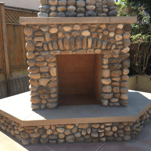 Outside Custom Fireplace-4