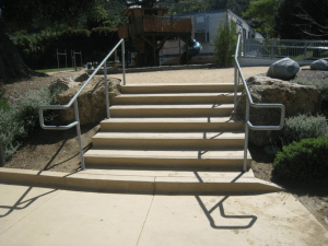 School Concrete Stairs-1
